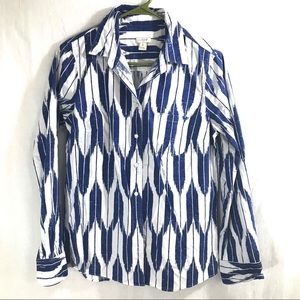 J Crew Long Sleeve Button Up Size S